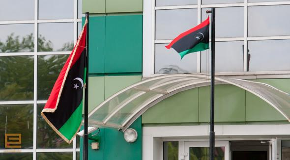 Libyan Embassy in Minsk hoists the rebels' flag - photo