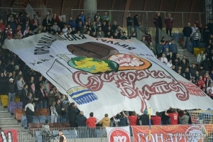 Belarus and Ukraine football fans unite against Putin