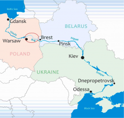 Poland, Belarus and Ukraine to revive the Baltic - Black Sea water route