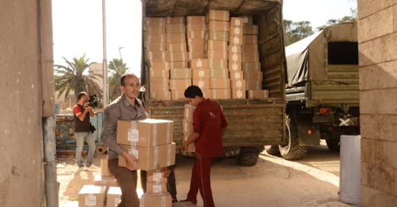Aid convoy containing 23 tons of food and essential items sent by Belarus arrives in Aleppo