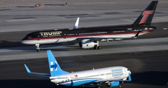 Самолеты Трампа и Клинтон - в одном аэропорту