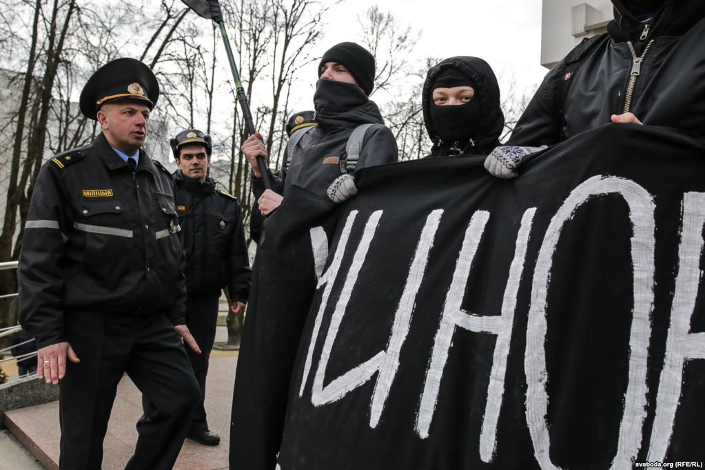 Anarchists, the avangarde of social protests in Belarus
