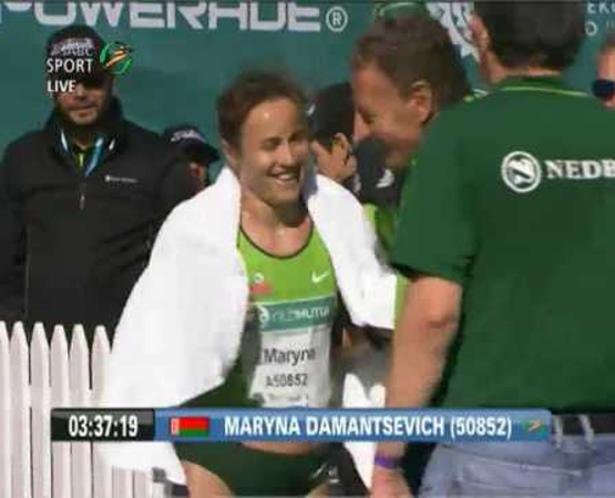 Belarusian runner wins 56 km two oceans marathon