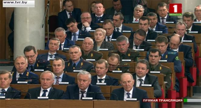 """""""Мертвая тишина"""". С какими лицами депутаты, министры и послы слушали Лукашенко"""