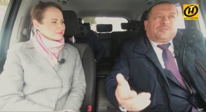 Очередная журналистка гостелевидения нарушила в эфире правила дорожного движения