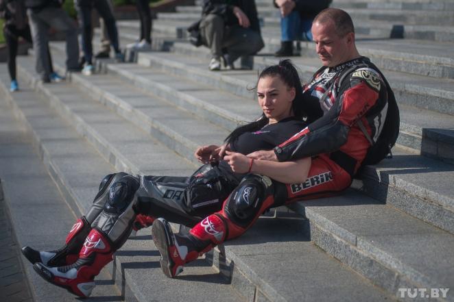 В Минске прошел парад мотоциклисток. Фоторепортаж.