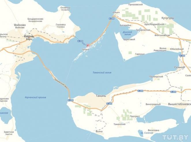 Карты Google не показывают Крымский мост