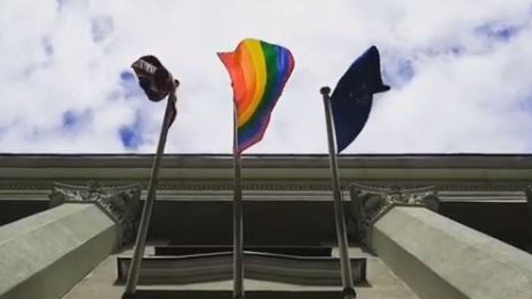 Belarus upset by British embassy's rainbow flag