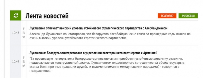 Многоверкторность политики Беларуси в одном скриншоте