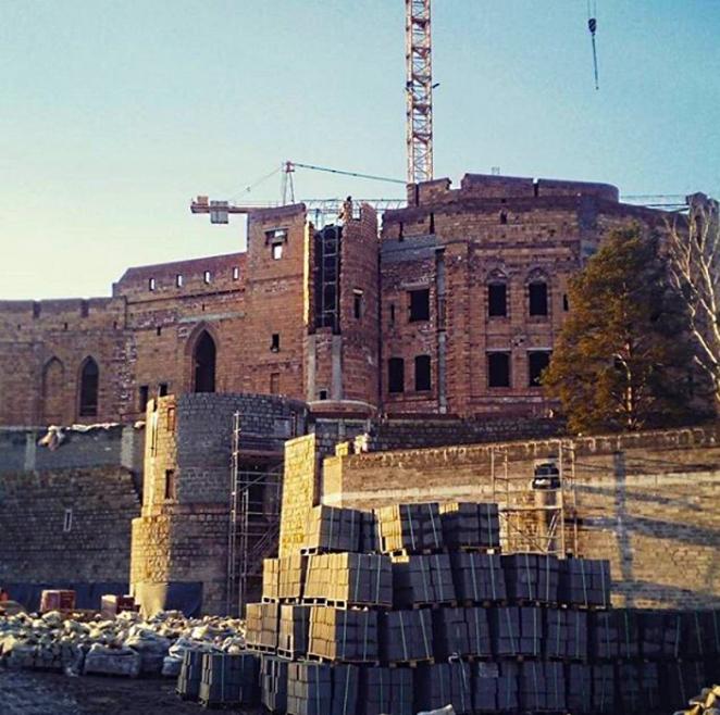 Скандал в Польше: неизвестные строят в Пуще 15-этажный замок