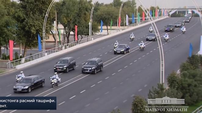 Как выглядел кортеж Лукашенко в Ташкенте. Фотофакт