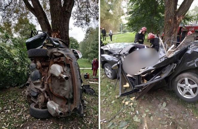 В страшной аварии в Минске погибли два человека