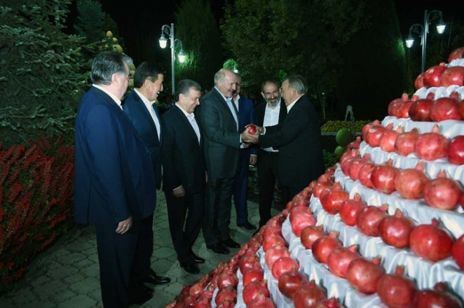 Лукашенко снова прилетел в Душанбе с младшим сыном Николаем