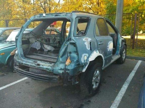 Фотофакт: пьяный водитель ездил по Минску на авто без дверей