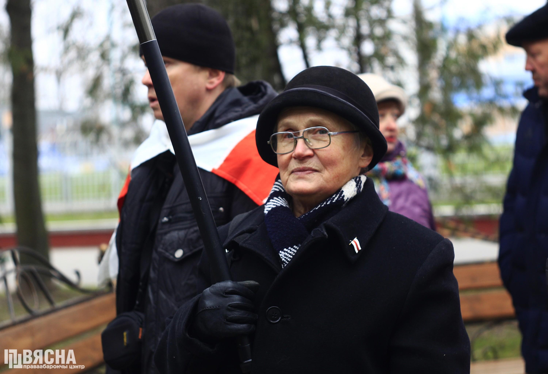 Нина Багинская добилась отмены штрафа за защиту Куропат