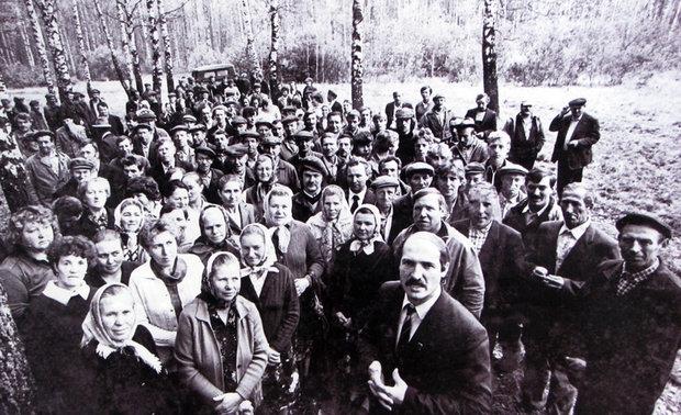 С коллективом совхоза, май 1988 года