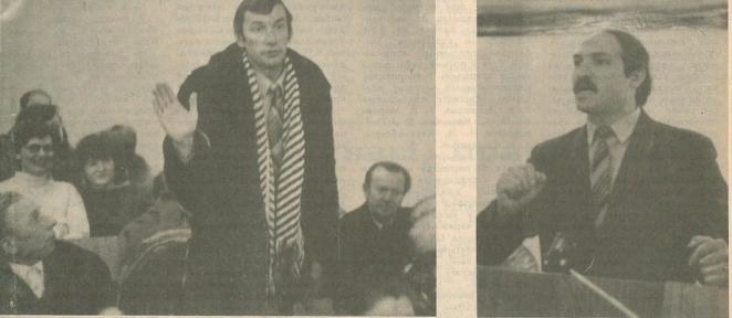 Лукашенко на встрече с избирателями, 1989 год