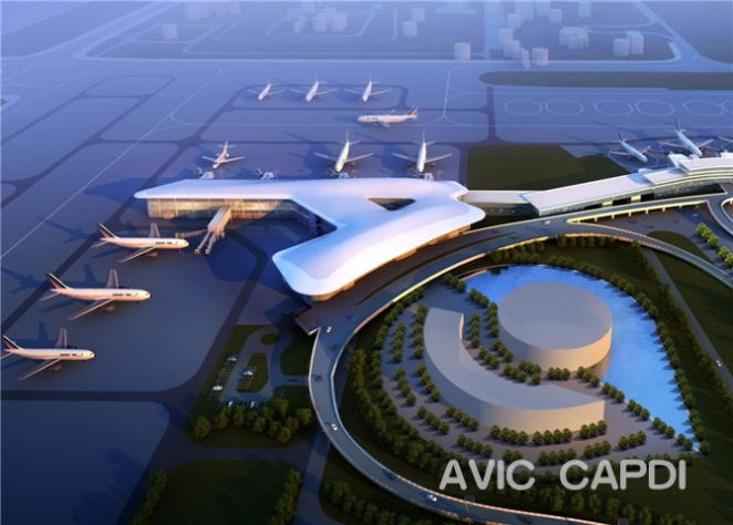 """Китайская компания показала проект нового терминала для Национального аэропорта """"Минск"""""""