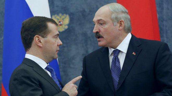 Russian PM Medvedev lambasts Belarus for 'unfair competition'