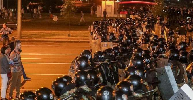 Police use water cannons, stun grenades to disperse peaceful protesters